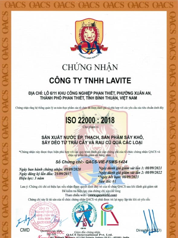 giấy chứng nhận hector collagen